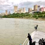 Downtown from downstream
